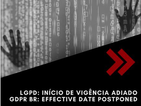 LGPD: início de vigência adiado para 3 de maio de 2021