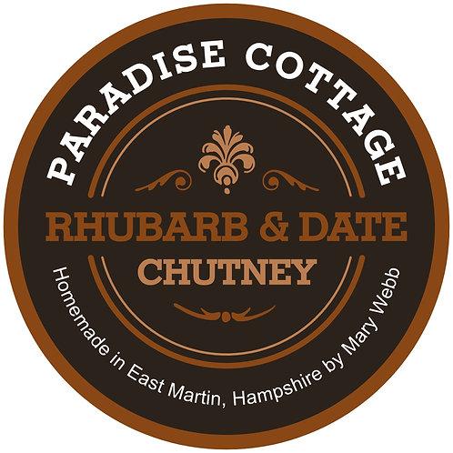 Rhubarb and Date Chutney