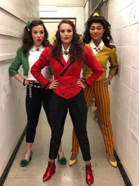 Backstage at Heathers the Musical
