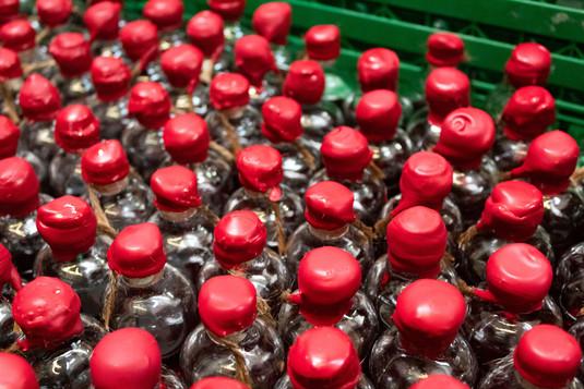 Wax sealed bottles