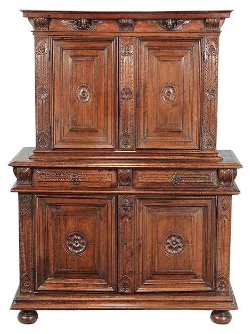 17th-18th Century Italian Baroque Walnut Cupboard