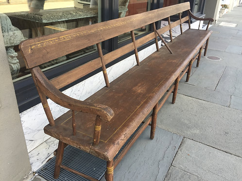 Painted American hall bench