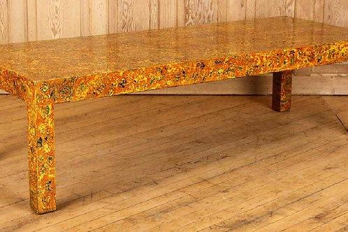 Midcentury Faux tortoiseshell coffee table