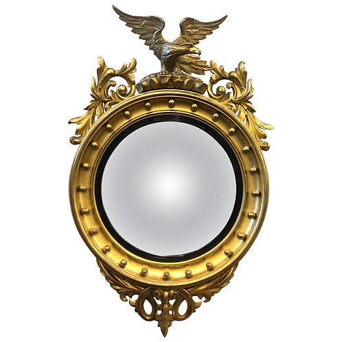 19th Century English Convex Mirror