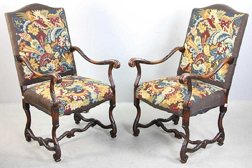 Pr. 19th century French upholstered chairs
