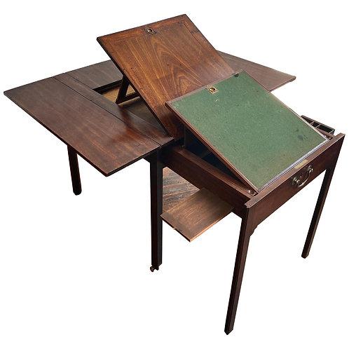 18th Century Georgian Mahogany Metamorphic Architect's Table