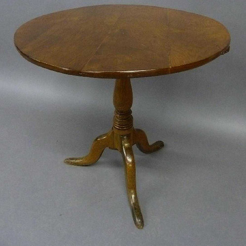 18th century elm tea table