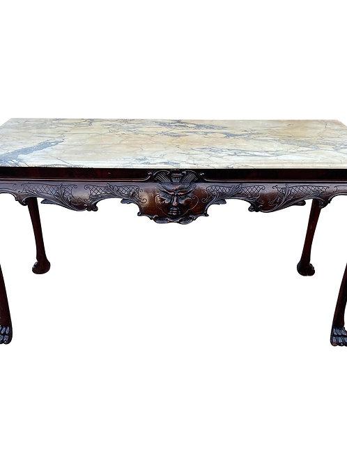 Fine 19th Century Irish Marble-Top Mahogany Console