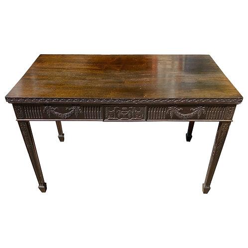 19th Century English Mahogany Adams Style 2-Drawer Table or Desk