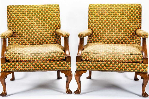 19th century English Library chairs