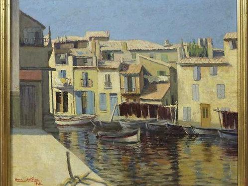 """Mediterranean Port Scene"""