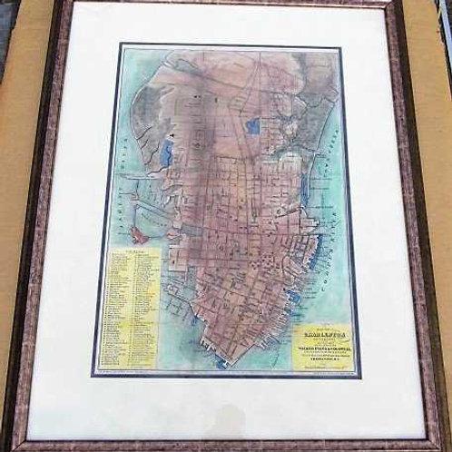 1877 Hand colored Charleston City Map