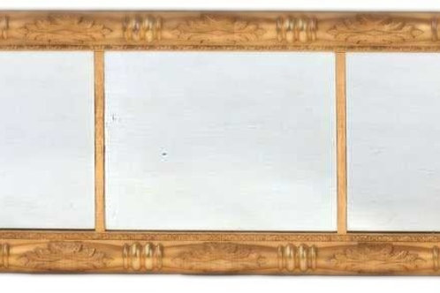 Gilt Classical Overmantle Mirror