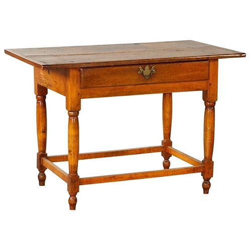18th Century New England Maple and Pine Tavern Table