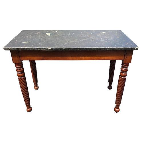19th Century English Regency Slate Top Mahogany Mixing Table