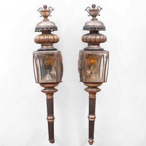 Large pair of Antique Carriage Lanterns