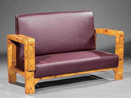 Pr. Art Moderne-Style Burled Settees