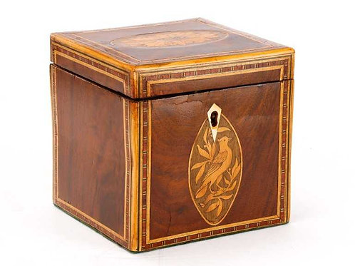 Inlaid Georgian Tea Caddy