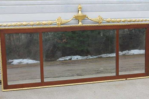 Gold gilt and mahogany 3 panel mirror