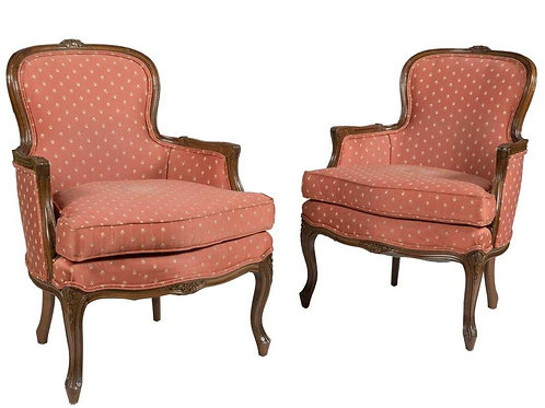 Pair French Boudoir chairs