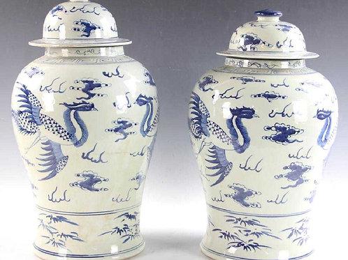Pr. Chinese Temple Jars