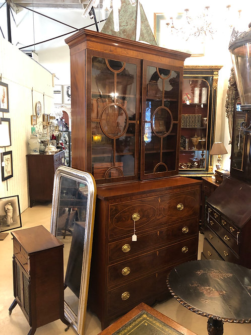 Mahogany federal secretary bookcase