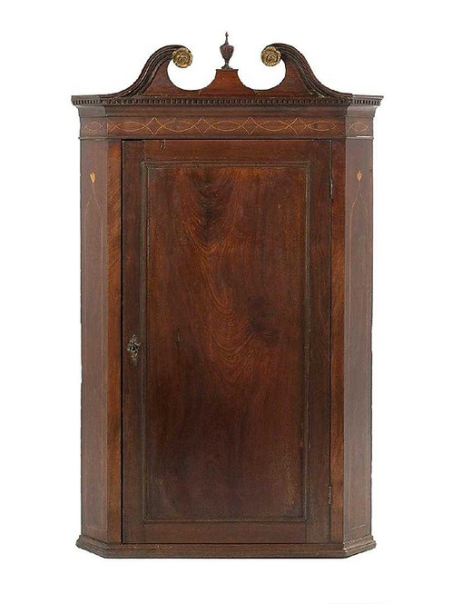 18th Century Mahogany Hanging Cabinet