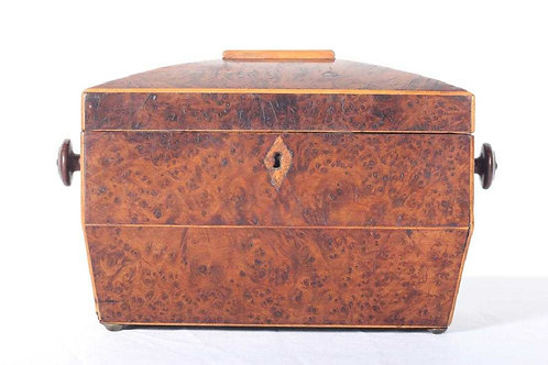 Regency Burlwood Tea Caddy
