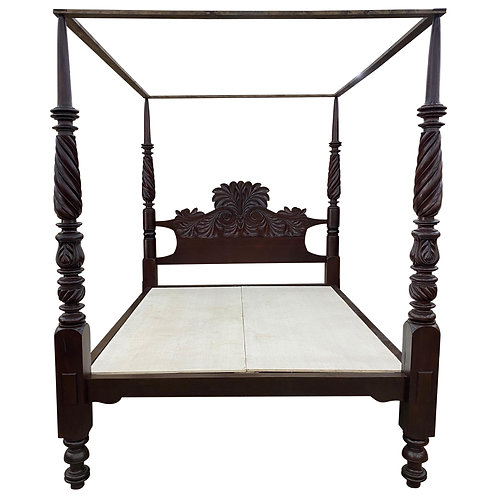 19th Century British West Indies 4 Post Bed from Jamaica (California King)