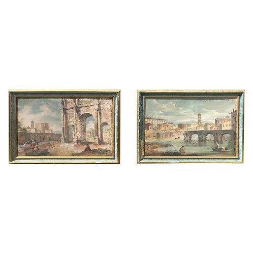 Pair of 18th Century Italian Paintings