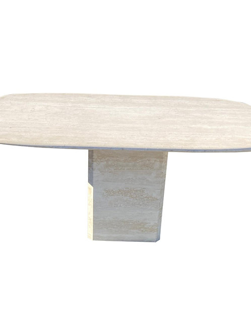 Mid-Century Modern Travertine Dining Table or Desk