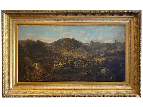 """""""In The Welsh Hills"""" by F. Taylor, 1870"""