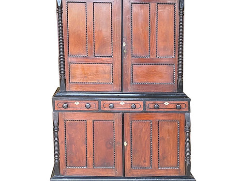 19th Century Anglo-Indian Jackwood and Ebony Cabinet