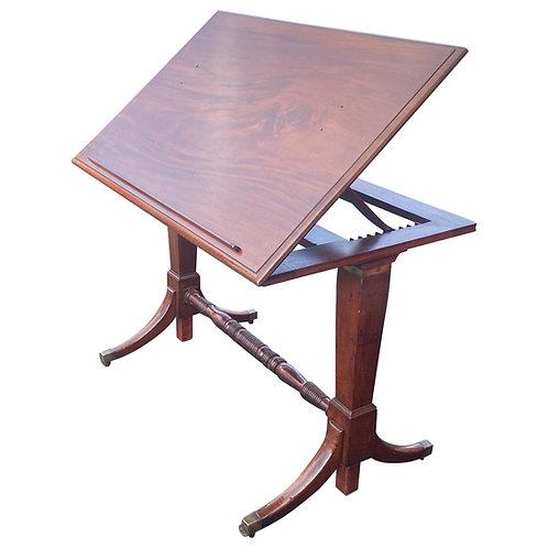 19th Century English Mahogany Extending Folio or Architect's Table