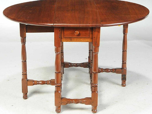 Walnut William and Mary Gateleg Table