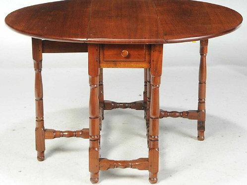 Walnut William and Mary Gateleg Table