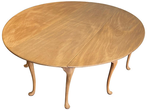 19th Century British Bleached Mahogany Wake Table, Likely Irish