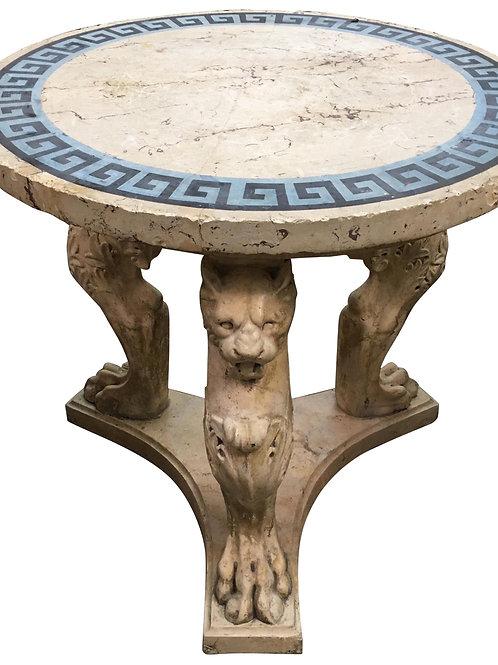 Incredible Rare 19th Century Italian Grand Tour Scagliola Center Table
