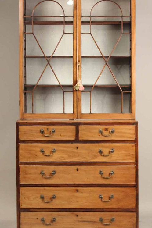 George III Mahogany Bookcase on Chest