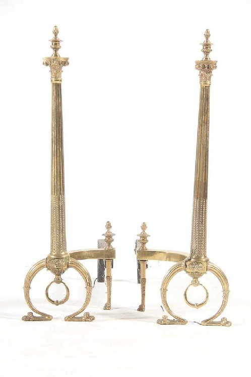 Antique Adams style andirons