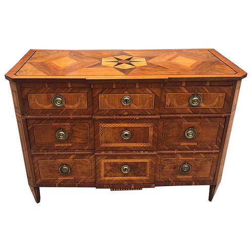 18th-19th Century Italian Neoclassical Inlaid Commode