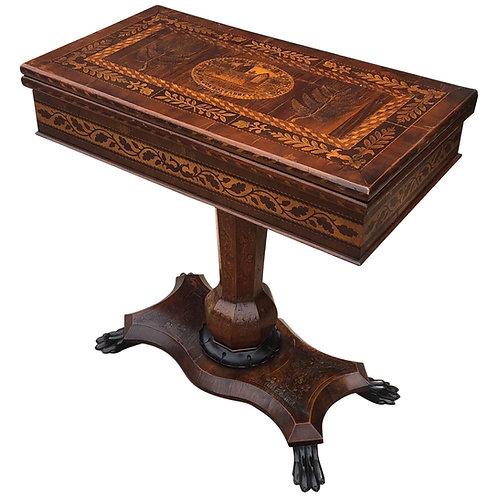 Rare Killarney Games Table, Depictions of Muckross Abbey & Shamrocks
