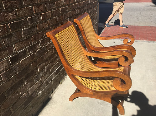 Pair of Deco French Islands chairs