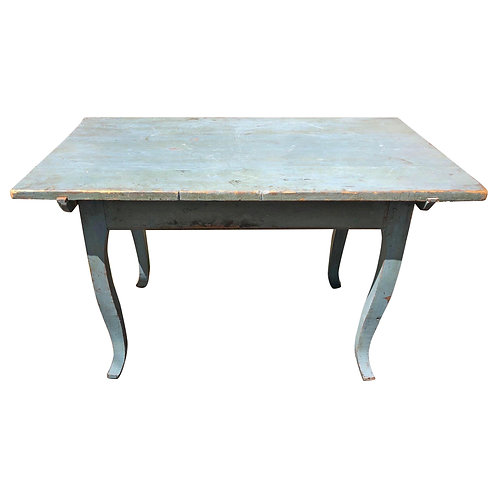 Early 19th Century Blue Swedish Table