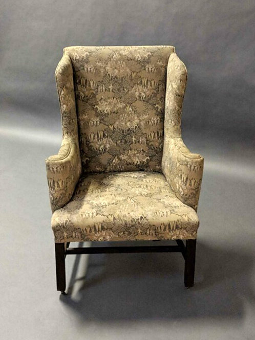 American Federal-Style Mahogany Wing Chair