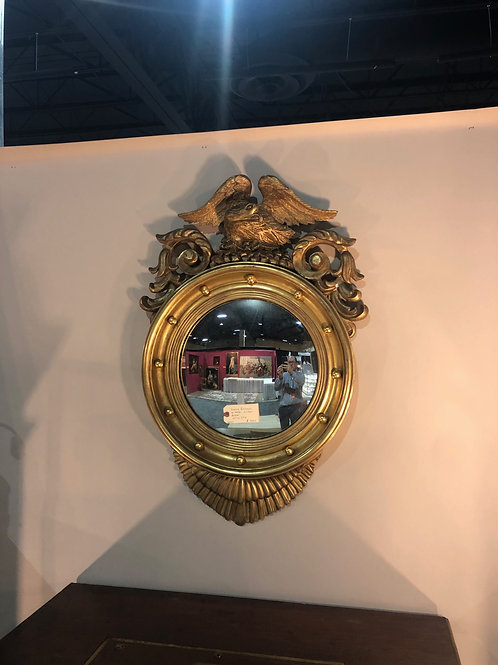 Giltwood bullseye mirror