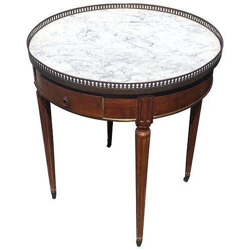 19th Century French Marble-Top Bouillotte Table