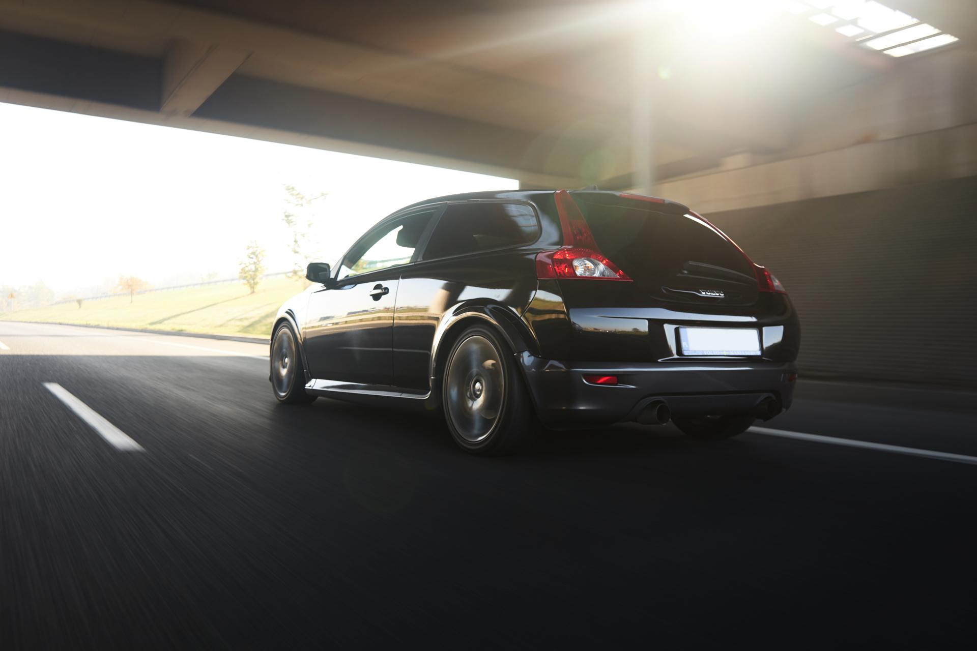 Volvo C30 - zdjęcia w ruchu