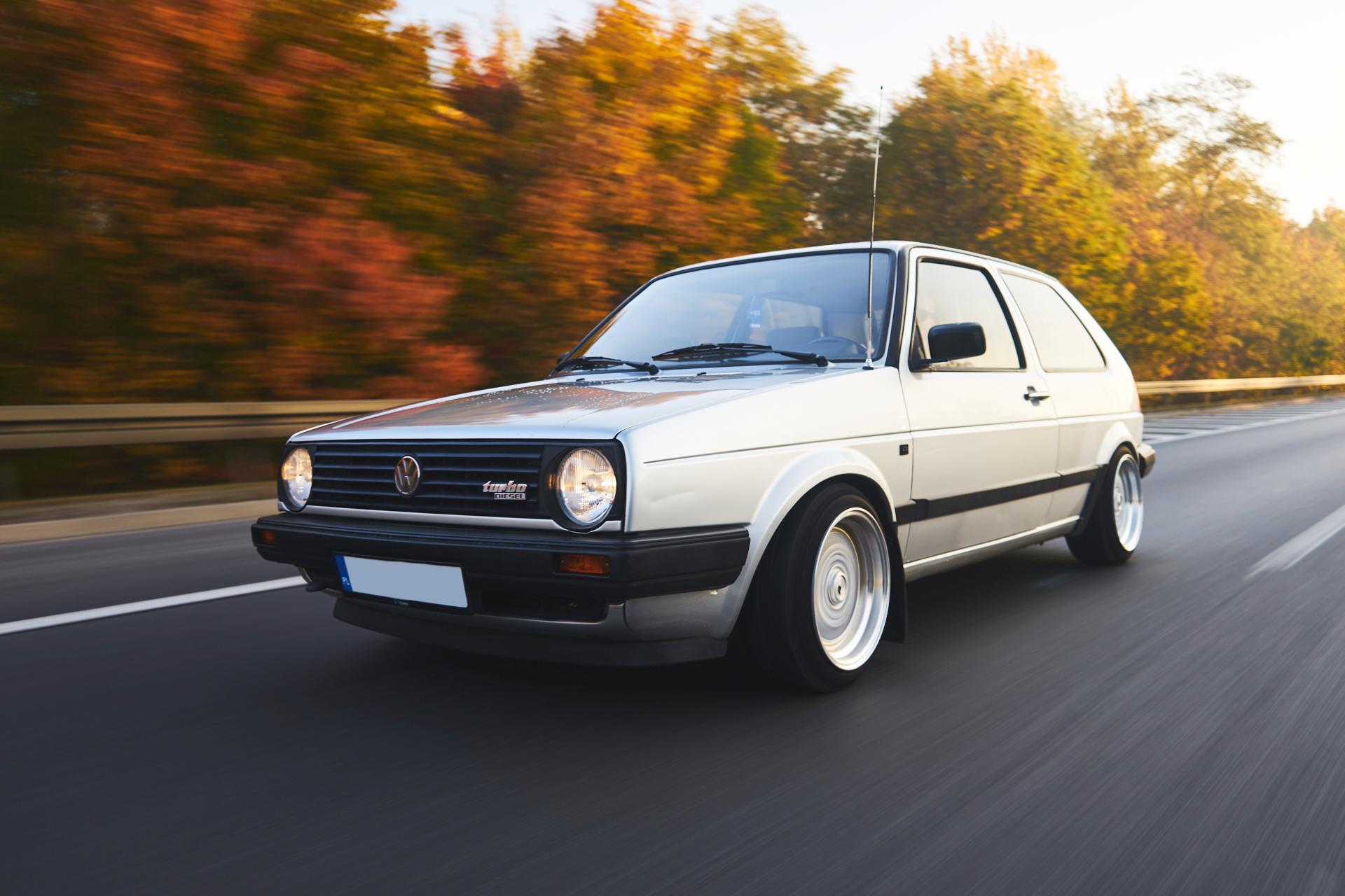 VW Golf - zdjęcia w ruchu