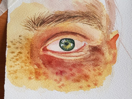 How to paint an Eye using Watercolor?